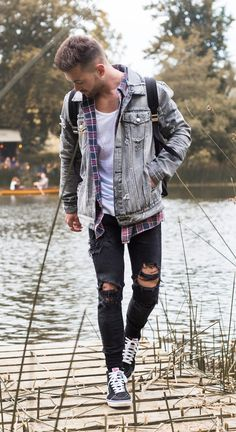 Men's Outfit Inspiration + Hair: festival edition