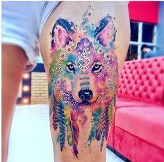 Beautiful Wolf tattoo