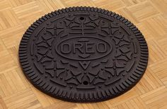 Oreo manhole cover by Andrew Lewicki.