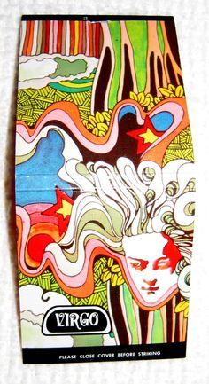 Vintage 60's 70's Psychedelic Matchbook. Fillmore Art ERA. Matches. Virgo.