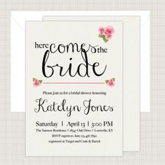 Wedding Shower Invitation from Printed Ink