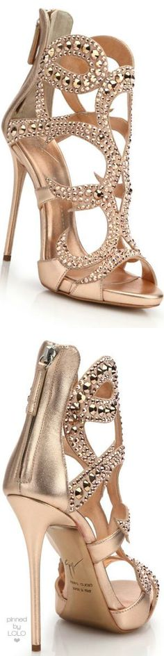 Giuseppe Zanotti Crystal-Studded Suede Sandals | LOLO❤️︎