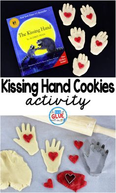 One of my favorite activities to do on the first day is to read The Kissing Hand to my students and enjoy a tasty kissing hand cookie to celebrate making it through our first day of school. Preschool First Day, First Day Of School Activities, 1st Day Of School, Preschool Lessons, Beginning Of School, Hands On Activities, Preschool Activities, Book Activities, Emotions Preschool