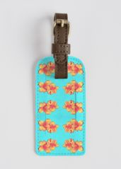 LEATHER ACCENT TAG:  Surreal Floating Hibiscus #luggagetag #travel #gift #hibiscus