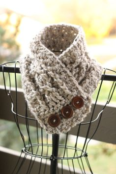 Tweed cowl crochet cowl cozy cowl by LittleSunshineShop11, $27.00