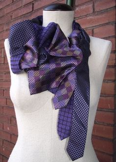 Smithe Handstitched Upcycled Vintage Necktie by BuffaloBlueDesigns, $68.00