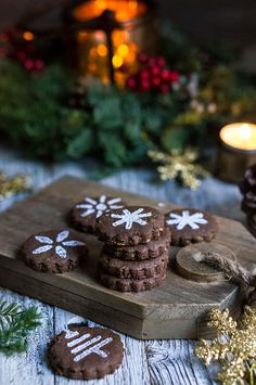 Mexican chocolate shortbread cookies - enriched with dark chocolate, and flavored with spicy cinnamon, and hot cayenne pepper, these cookies melt in your mouth with an intense chocolaty flavor, and a lingering warmth and heat.