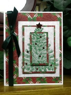 Christmas Tree card-triple layer stamping technique~AS