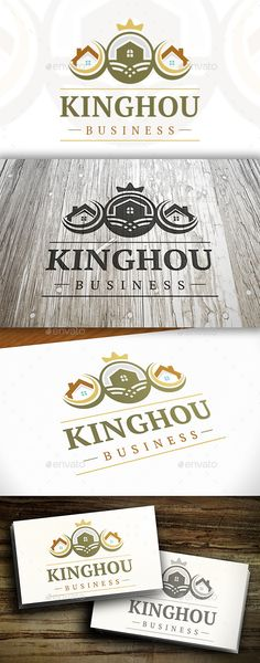 House King Logo #vector #eps #clean #sky • Available here → https://graphicriver.net/item/house-king-logo/10341305?ref=pxcr