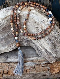 Agate Mala Necklace - Made by look4treasures