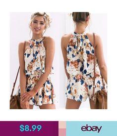 5c814b4c4d  8.99 - Women Summer Beach Jumpsuit Clubwear Bodycon Playsuit Romper Hot  Short Pants  ebay