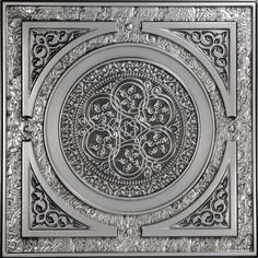 The Steampunk movement creatively blends elements of modern technology, science fiction, and Victorian fashion. Our 225 Steampunk faux tin drop - in ceiling tile is a fun tribute to the Steampunk styl Faux Tin Ceiling Tiles, Tin Tiles, Metal Ceiling, Ceiling Panels, Ceiling Coverings, Porch Ceiling, Ceiling Art, Bedroom Ceiling, Ceiling Design