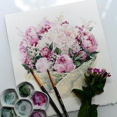 Какой же кайф писать с натуры спасибо @myxamorr за цветочкии спасибо…