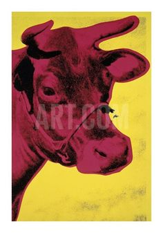 Cow, c.1966 (Yellow and Pink) Giclee Print by Andy Warhol at Art.com