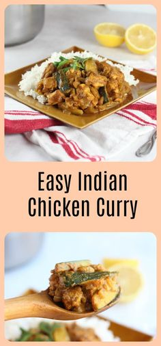 Easy Indian Chicken Curry Recipe - A low carb recipe packed full of protein and flavor! Serve it with cauliflower rice to keep it low in carbs.