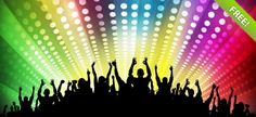 Gratis Fondos de Disco Party Psd Gratis