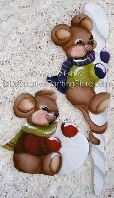 Ice Mice ePacket - Wendy Fahey - PDF DOWNLOAD #PaintingEPattern #paintingpattern #miceornament #ChristmasMice