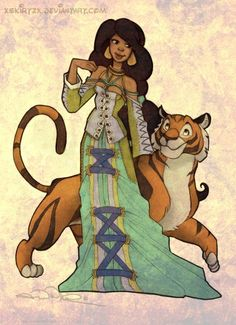 xsKiRtZx's drawings of Disney princesses and other lead female characters as Final Fantasy X-2 classes    Jasmine as a Trainer