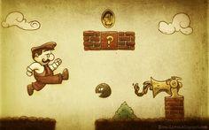 Retro Mario.