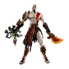 God of War II - Kratos in Golden Fleece Armor With Medusa Head