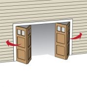 Within the previous ten years that unfavorable view of the garage has actually altered drastically. Climatizing the garage has become a lot more than an afterthought. Side Hinged Garage Doors, Unique Garage Doors, Garage Door Hinges, Garage Door Colors, Carriage Garage Doors, Diy Garage Door, Garage Door Makeover, Garage Door Opener, Garage Signs
