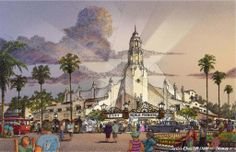Artist's rendering of the Carthay Circle Theater in the Disney California Adventure theme park in Anaheim. Courtesy of the Disneyland Resort. Used with permission. Abandoned Disney Park, Abandoned Theme Parks, Disney California Adventure, Disneyland Paris, Disneyland Resort, Hong Kong Disneyland, Disney Rides, Disney Parks, Walt Disney Imagineering