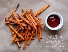 salt + vinegar sweet potato fries