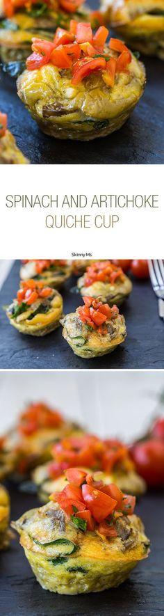 Spinach & Artichoke Quiche Cups--the perfect portioned breakfast!