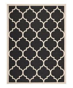 Look what I found on #zulily! Black & Beige Marica  Indoor/Outdoor Rug #zulilyfinds