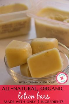 DIY lotion bars that are great for dry skin and eczema. Only 3 ingredients! The Ultimate Pinterest Party, Week 38