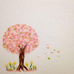 . 今月のマステアート . 季節の中で春が一番好きだな〜 . . .  #マスキングテープ #マステ #マステアート #mt #maskingtape #masking #tape #art #桜 #さくら #sakura #春 #Spring #賃貸 #壁