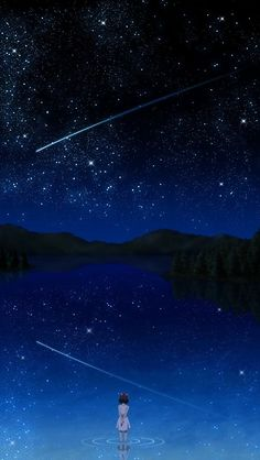 !!TAP AND GET THE FREE APP! Landscapes Art Night Blue Stars Sparkle Loneliness Dark HD iPhone 5 Wallpaper