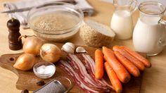 Zutaten für die Gerstensuppe