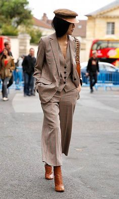 Street style outfits, looks street style, autumn street style, Street Style Chic, Looks Street Style, Street Style Trends, New Fashion Trends, Fashion Week, Fashion Outfits, Womens Fashion, Style Fashion, Suit Fashion