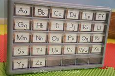 How to make a Montessori Alphabet Box - Wildflower Ramblings