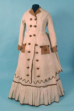 Traveling dress, ca 1870, Karen Augusta Antique Lace & Fashion