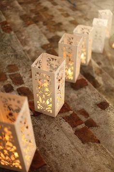 Delicate Laser Cut Lanterns, for A Romantic Vibe