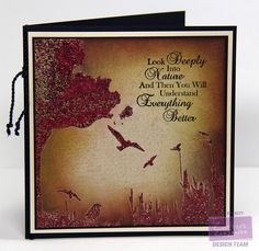 Designed by Lori Barnett. Crafter's Companion Sheena Douglas Stencil Summer Meadow, Sheena's A Little Bit Sketchy, Stamp-It Australia, Dream Weaver Embossing Paste, Stampendous Embossing Powder. @CraftersCompUS