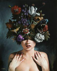 """""""Ruysch's Dream"""" by Scott Scheidly #art #painting"""