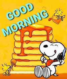 Snoopy and Woodstock Good Morning Snoopy, Good Morning Greetings, Good Morning Good Night, Morning Wish, Good Morning Quotes, Morning Images, Snoopy Images, Snoopy Pictures, Emoji Pictures