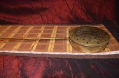 "Vintage Brass Bed Warmer with Brass Handle 20 3/4""x7 5/8""  #Unknown"