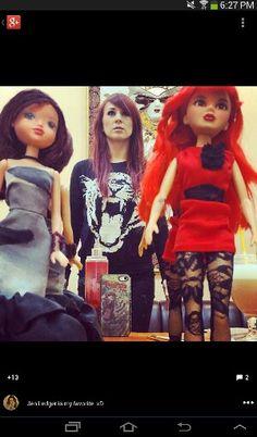 Jen ledger and some barbie dolls Jen Ledger, Christian Rock Bands, Skillet, Barbie Dolls, Ronald Mcdonald, Punk, Fashion, Moda, Fashion Styles