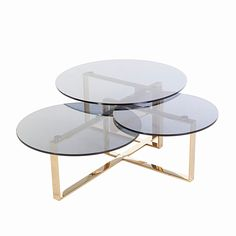 Tiered Gold Coffee Table