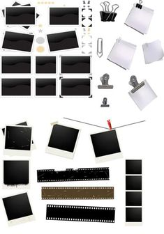 26 Polariod and Peperclips Templates
