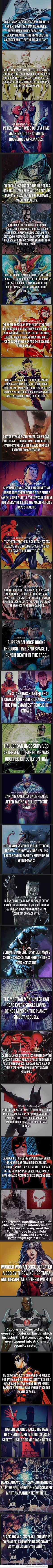 All Things Marvel and DC - Fact Dump