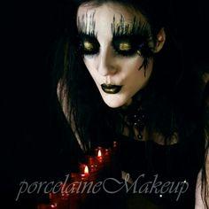 Gothic makeup Gothic Makeup, Halloween Face Makeup, Maquillaje, Goth Makeup