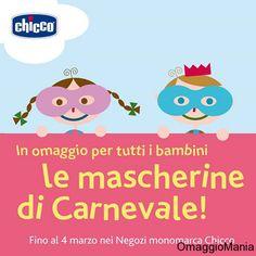 Maschera di Carnevale omaggio da Chicco - http://www.omaggiomania.com/bambini/maschera-di-carnevale-omaggio-da-chicco/