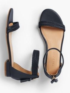 prdi42526 - Sailor Tasseled Braided Leather Sandals