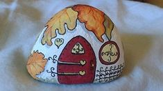 Fairy-Gnome-hand-painted-river-rock-house-garden-yard-art-floral