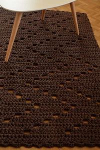The rug on the photo is aproxima inches cm) in size, cm thick and weights about kg. This soft chocolate brown rug is a perfect addition to your living room, bedroom, bathroom, nursery. The rug will be shipped within 3 business days after receiving Crochet Baby Jacket, Crochet Baby Shoes, Crochet Home, Knit Crochet, Crochet Designs, Crochet Patterns, Crochet Braids For Kids, Bag Pattern Free, Brown Rug